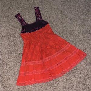 Free People Boho Embroidered Dress